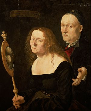 Lukas Furtenagel - The painter Hans Burgkmair and his wife Anna by Lukas Furtenagel, Kunsthistorisches Museum, 1529