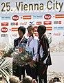 Luminita TALPOS Tomo MORIMOTO Beatrice OMWANZA Vienna-City-Marathon2008.jpg