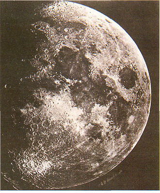 Exploration of the Moon - Photo of the Moon made by Lewis Rutherfurd in 1865