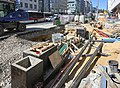 Luxembourg City – bvd Royal, tramway construction site 2019.jpg