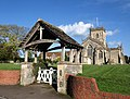 Lych gate and church, Ditcheat - geograph.org.uk - 1025465.jpg