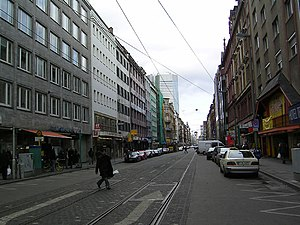Street - A city-centre street in Frankfurt, Germany.