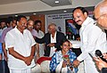 M. Venkaiah Naidu felicitating the Rio Olympics-2016 silver medalist Ms. P.V. Sindhu, at a function, in Vijayawada.jpg