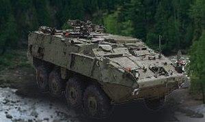 M1135 Nuclear, Biological, Chemical, Reconnaissance Vehicle - Image: M1135 NBC Reconnaissance Vehicle