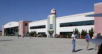 Military Aviation Museum - US Air Force hangar and main building at the Military Aviation Museum