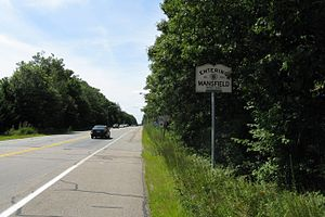 Massachusetts Route 106 - Westbound entering Mansfield