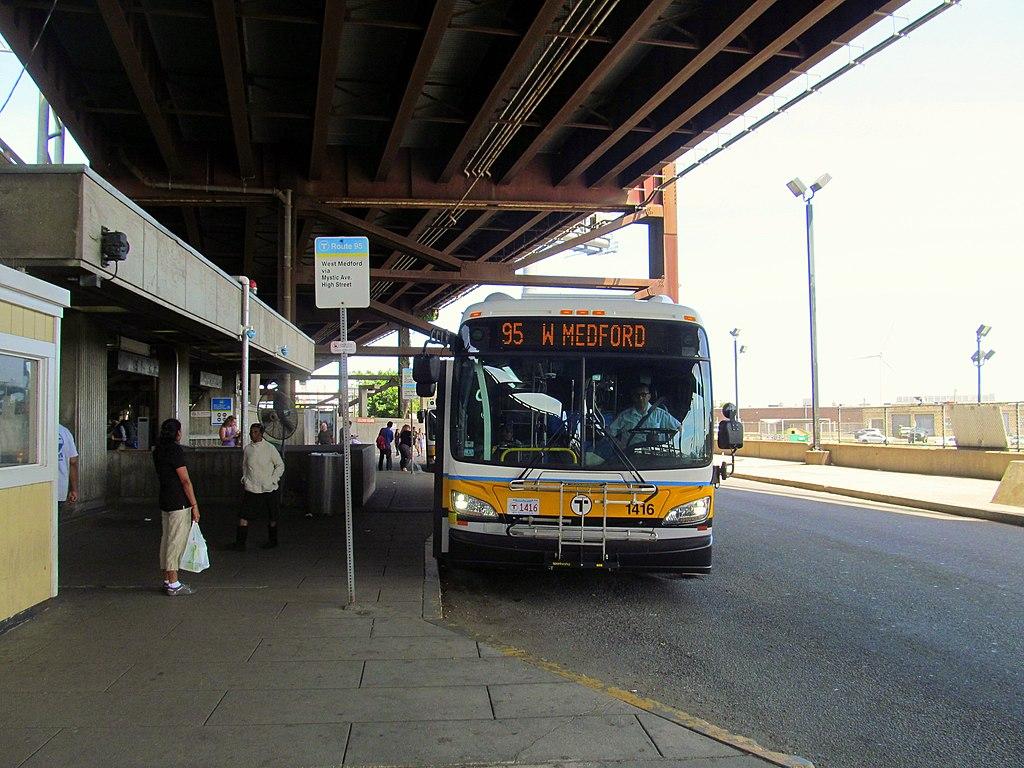 File Mbta Route 95 Bus At Sullivan Square June 2015 Jpg