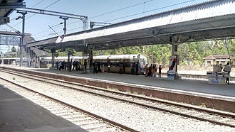 Paravur railway station - Kollam-Kanyakumari MEMU is arriving at Paravur railway station