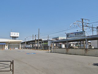 Shin-Kiyosu Station Railway station in Kiyosu, Aichi Prefecture, Japan