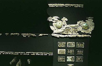 Vergina - The Couch of Philip II ornamented with Ivory