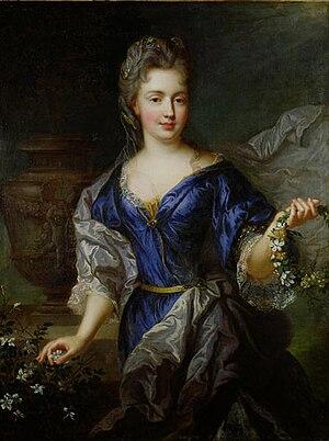 Duchy of La Vallière - Image: Mademoiselle de Blois (Marie Anne de Bourbon, 1666 1739) by François de Troy