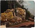 Magnus von Wright - Landscape Study, Mossy Rocks at Roadside - A I 35-4 - Finnish National Gallery.jpg
