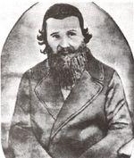 """תמונה של מהר""""ם שיק לרגל כינוס הקונגרס הכללי של בני ישראל, 1868."""