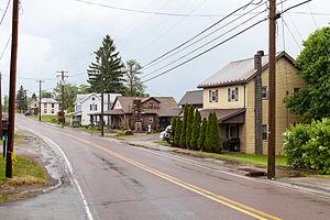 Markleysburg, Pennsylvania - Looking northeast on Main Street