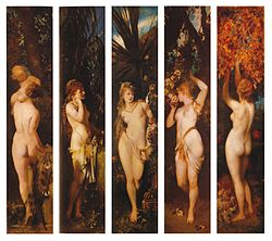 Hans Makart: The Five Senses by Hans Makart