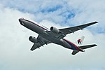 Malaysian Airlines Boeing 777-200 9M-MRE MH130 AKL-KUL departing AKL (15173103562).jpg