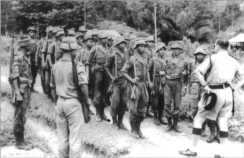 Malaysian Border Scouts comprising indigenous peoples of Borneo