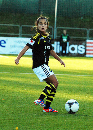Malin Diaz - Playing for AIK in October 2012