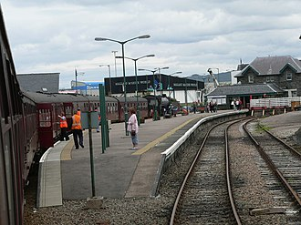 Mallaig railway station - Image: Mallaig railway station from The Jacobite 02