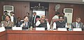 Mallikarjun Kharge addressing a meeting of the various Central Trade Union Leaders, in New Delhi on February 13, 2013. The Minister of State for Labour & Employment, Shri Kodikunnil Suresh is also seen.jpg