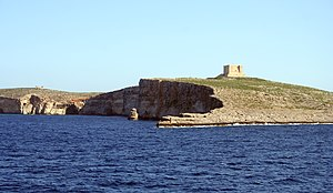 Saint Mary's Tower - The tower as viewed from the Gozo ferry