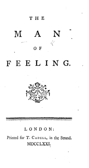 The Man of Feeling - Title page from the first edition