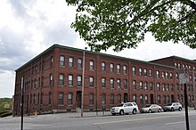 Carpenter and Bean Block, Elm & Dow Sts., Manchester, NH (1883)