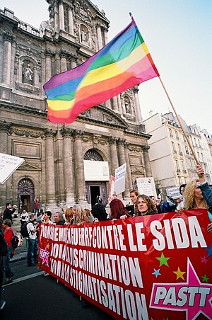 Manifestation contre le transphobie à Paris en France, 1er octobre 2005