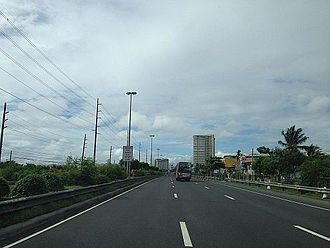 Manila–Cavite Expressway - CAVITEX approaching the terminus at NAIA Road in Tambo, Parañaque