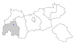 Location of Landeck within Tyrol