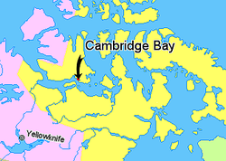 Map indicating Cambridge Bay (hamlet), Nunavut, Canada.png