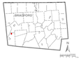 Image: Map of Alba, Bradford County, Pennsylvania Highlighted.png (row: 5 column: 9 )