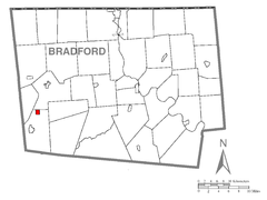 Map of Alba, Bradford County, Pennsylvania Highlighted.png