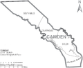 Map of Camden County North Carolina With Municipal and Township Labels.PNG