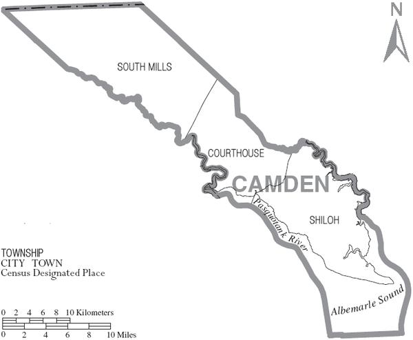 on camden county maps