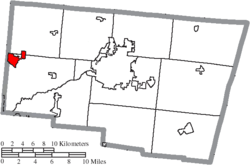 Location of New Carlisle in Clark County