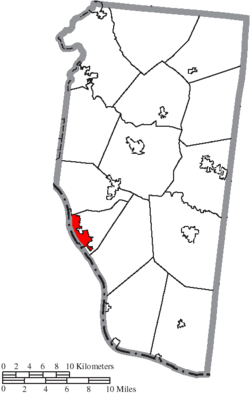 Location of New Richmond in Clermont County