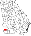 Map of Georgia highlighting Miller County.svg