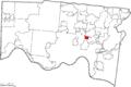 Map of Hamilton County Ohio Highlighting Golf Manor Village.png