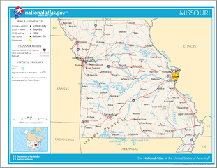 Landkarte von Missouri