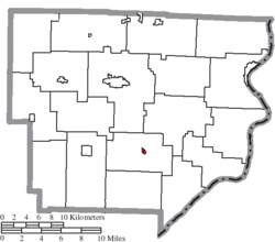 Location of Antioch in Monroe County