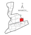Map of Northumberland County Pennsylvania Highlighting Ralpho Township.PNG