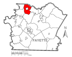 Location of Perry Township in Fayette County