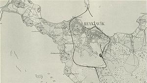 Rail transport in Iceland - Map of Reykjavík Harbour Railway from 1902 by N. P. Kirk