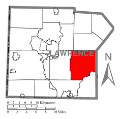 Map of Slippery Rock Township, Lawrence County, Pennsylvania Highlighted.png