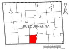 Map of Susquehanna County Pennsylvania highlighting Lathrop Township.PNG