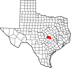 Map of Texas highlighting Williamson County.svg