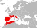 Mapa Coronella girondica.png