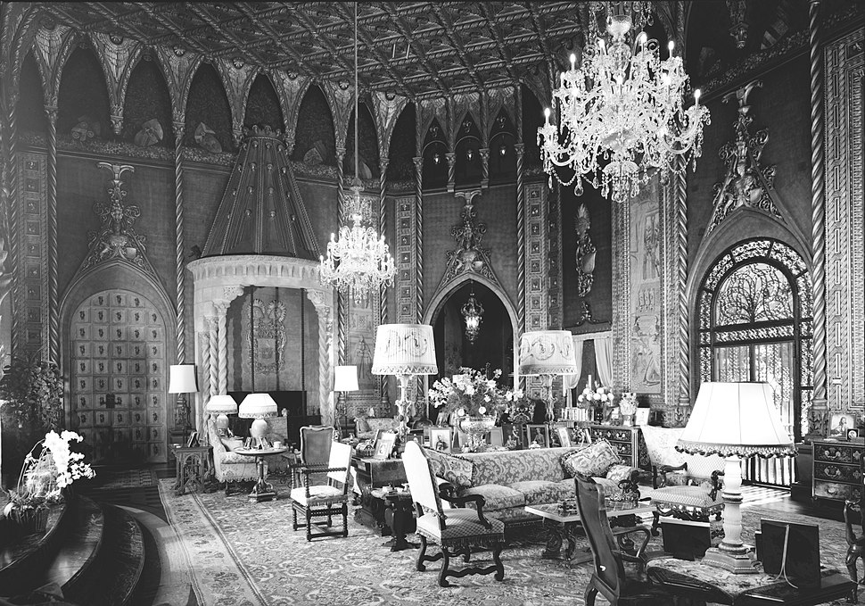 Mar-a-Lago, Living Room looking southwest (1967)