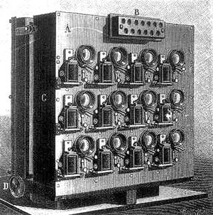 Chronophotography - Étienne-Jules Marey: Albert Londe's 12-lens camera, 1893.